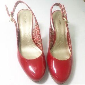 Tahari red heels